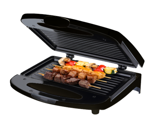 Chefman Compact Electric Contact Grill & Sandwich Maker - Black Perspective: front