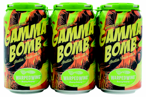 Warped Wing Brewing Co. Gamma Bomb IPA Perspective: front