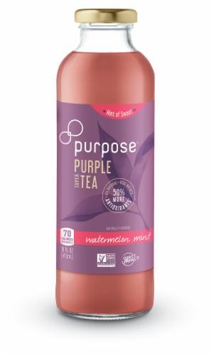 Purpose Tea Watermelon Mint Purple Super Tea Perspective: front