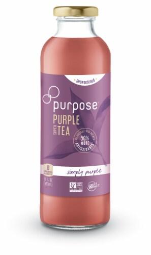 Purpose Tea Unsweetened Simply Purple Super Tea Perspective: front