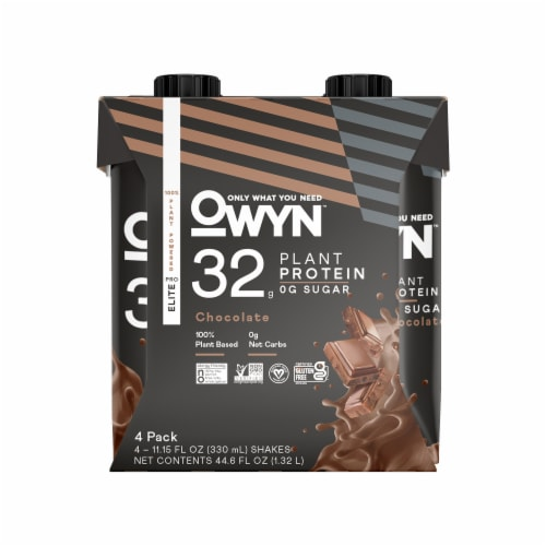 OWYN 100% Vegan Pro Elite Chocolate Protein Shakes Perspective: front