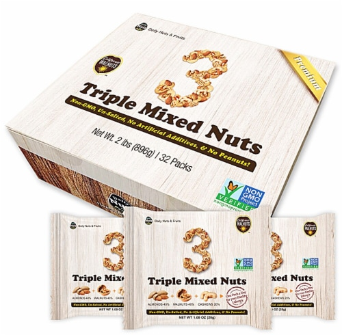 Daily Nuts & Fruits Premium Triple Mixed Nuts Multipack Perspective: front