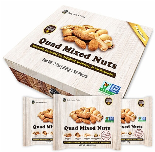Daily Nuts & Fruits Premium Quad Mixed Nuts Multipack Perspective: front
