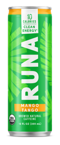 Runa Clean Mango Tango Energy Drink Perspective: front