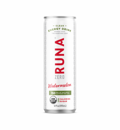 Runa Zero Watermelon Clean Energy Drink Perspective: front