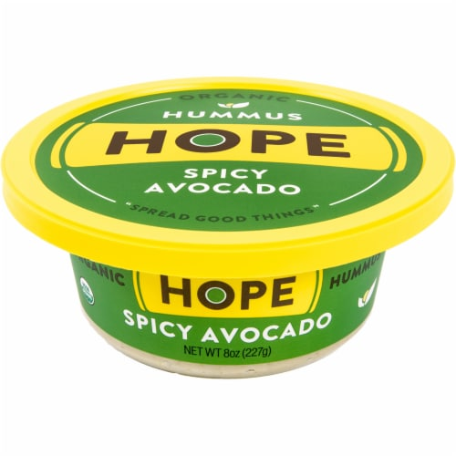 Hope Foods Organic Spicy Avocado Hummus Perspective: front