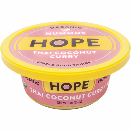 Hope Foods Organic Thai Coconut Curry Hummus Perspective: front