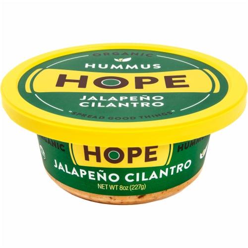 Hope Foods Organic Jalapeno Cilantro Hummus Perspective: front