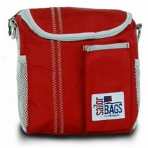 Sailor Bags Lunch Bag  True Red with Grey Trim Perspective: front