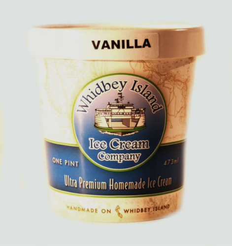 Whidbey Island Vanilla Ice Cream Perspective: front