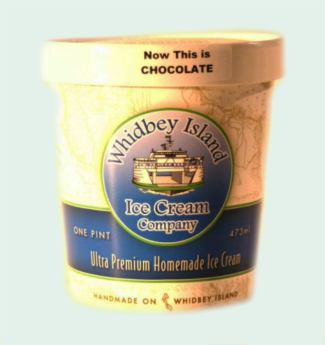 Whidbey Island Now This is Chocolate Ice Cream Perspective: front