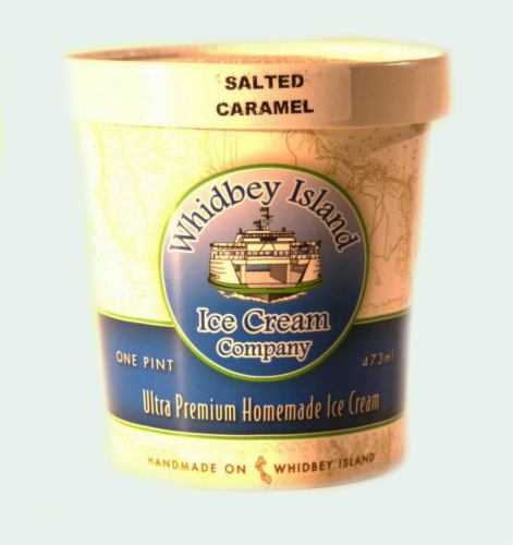 Whidbey Island Salted Caramel Ice Cream Perspective: front