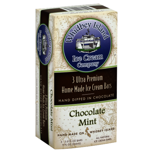 Whidbey Island Chocolate Mint Ice Cream Bars Perspective: front