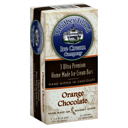 Whidbey Island Orange Chocolate Ice Cream Bars Perspective: front