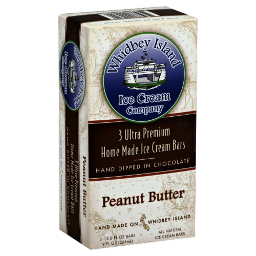 Whidbey Island Peanut Butter Ice Cream Bars Perspective: front