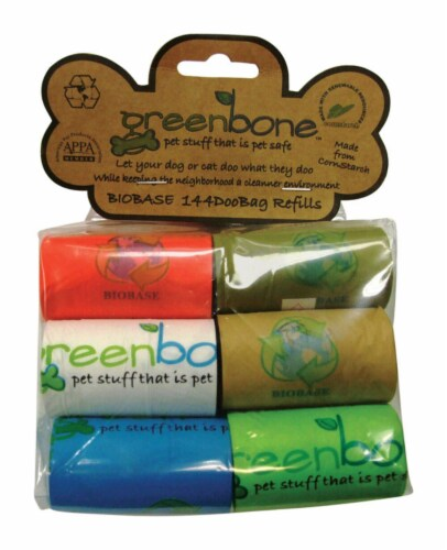 Greenbone Plastic Disposable Pet Waste Bags 144 pk - Case Of: 1; Each Pack Qty: 144; Total Perspective: front