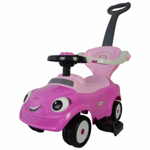 Best Ride On Cars Baby 3 in 1 Little Tikes Push Car Stroller Ride On Toy, Pink Perspective: front