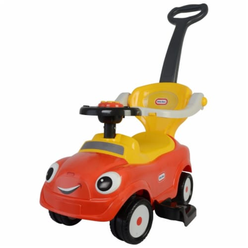 Best Ride On Cars Baby 3 in 1 Little Tikes Push Car Stroller Ride On Toy, Red Perspective: front