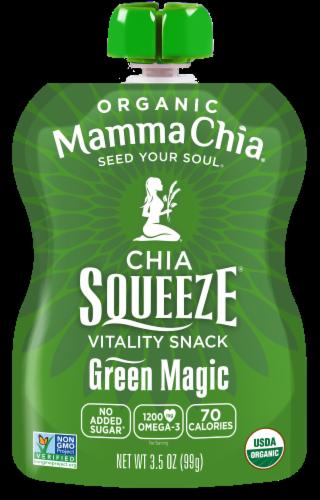 Mamma Chia Organic Green Magic Chia Squeeze Vitality Snack Perspective: front