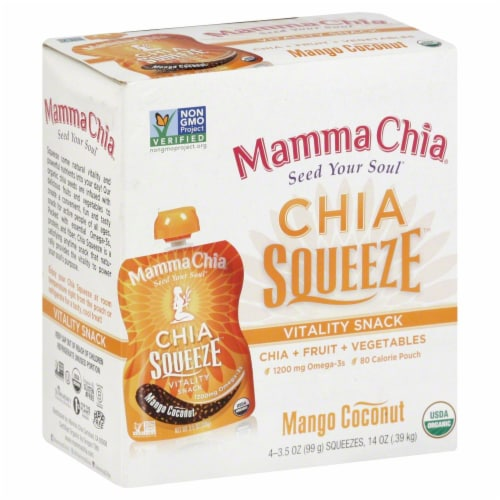 Mamma Chia Squeeze  Mango Coconut Perspective: front