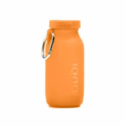 Bubi Brands BB42SO287 14oz & 414 ml Foldable Water Bottle Rose, Sunset Orange Perspective: front