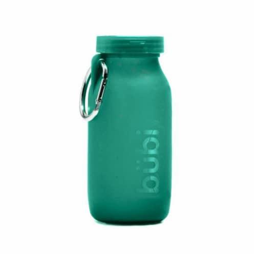Bubi Brands BB42ST416 14oz & 414 ml Foldable Water Bottle Rose, Seafoam Teal Perspective: front