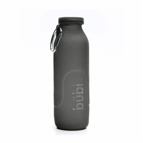 Bubi Brands BB100GG430 35oz & 1000 ml Foldable Water Bottle Rose, Gunmetal Grey Perspective: front