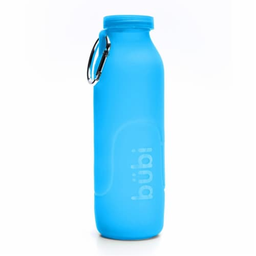 Bubi Brands BB100PB447 35oz & 1000 ml Foldable Water Bottle Rose, Pacific Blue Perspective: front