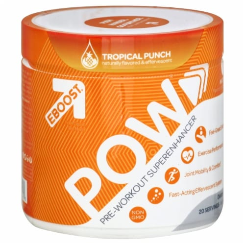 EBOOST Tropical Punch Pre-Workout Superenhancer Powder Perspective: front