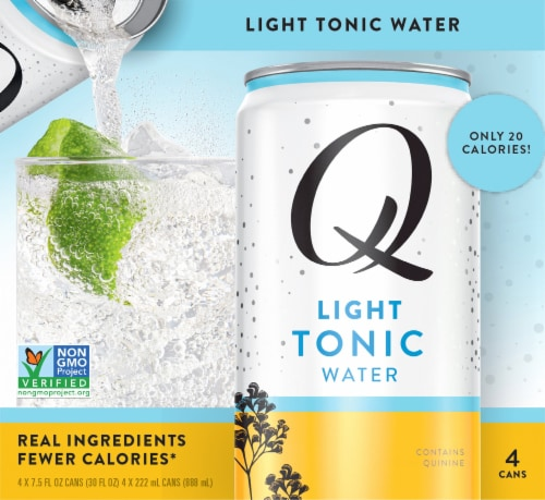 Q Mixers Light Tonic Water Perspective: front