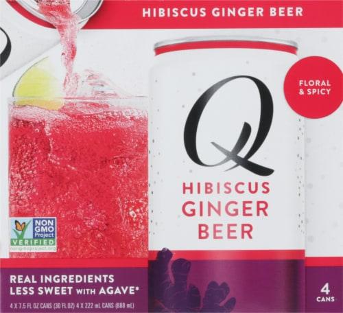 Q Mixers Hibiscus Ginger Beer Perspective: front