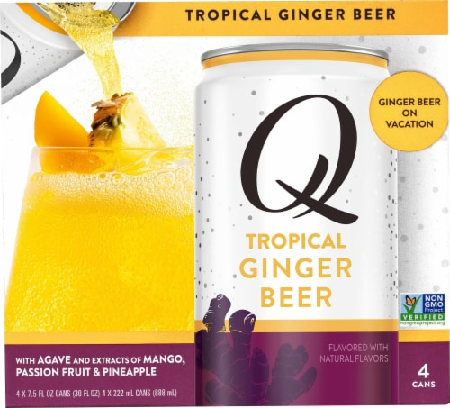 Q Drinks Tropical Ginger Beer Perspective: front