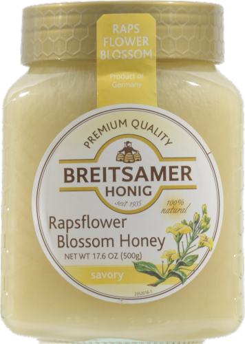 Breitsamer Honig Rapsflower Blossom Honey Perspective: front