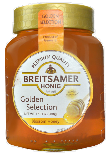 Breitsamer Honig Golden Selection Blossom Honey Perspective: front