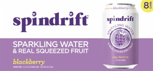 Spindrift Blackberry Sparkling Water Perspective: front