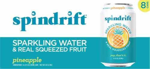 Spindrift Pineapple Sparkling Water Perspective: front