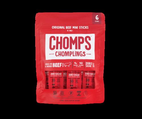 Chomps Chomplings Mild Original Beef Mini Sticks 6 Count Perspective: front