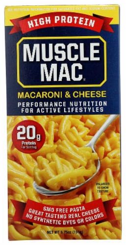 Muscle Mac Original Cheddar Macaroni & Cheese Side Dish Perspective: front