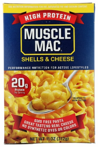 Muscle Mac Pro Original Cheddar Shells & Cheese Perspective: front