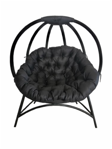 Flowerhouse Cozy Ball Chair - Overland Black Perspective: front