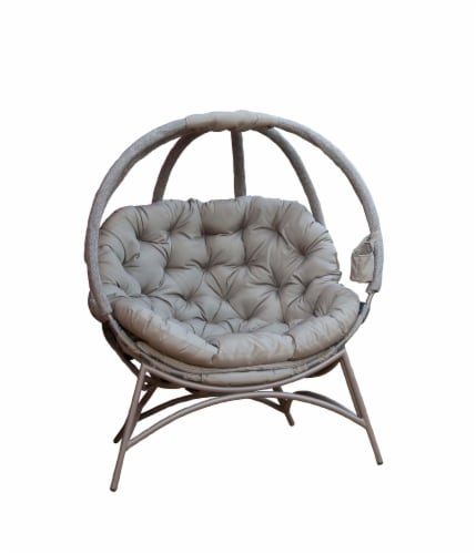 Flowerhouse Cozy Overland Ball Chair - Sand Perspective: front