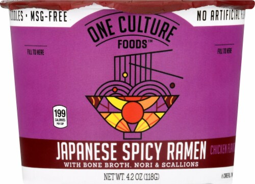 One Culture Foods Japanese Spicy Ramen Perspective: front
