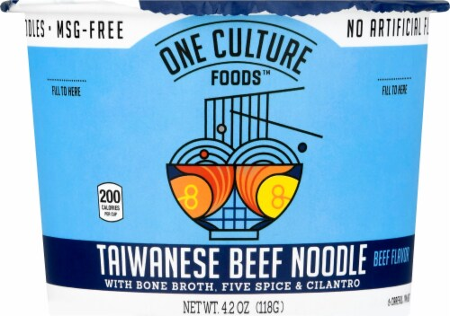 One Culture Foods Taiwanese Beef Noodles with Bone Broth Perspective: front