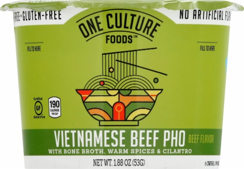 One Culture Foods Vietnamese Beef Pho with Bone Broth Perspective: front