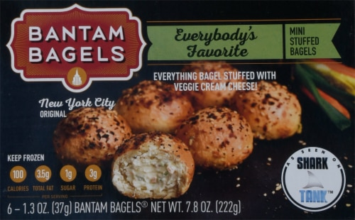 Bantam Bagels Everything Mini Stuffed Bagels Perspective: front