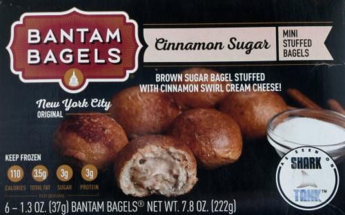 Bantam Bagels Cinnamon Sugar Cream Cheese Mini Stuffed Bagels Perspective: front