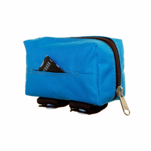 Dog Owners Outdoor Gear 890378 Walkie Tidy Bag Pouch, Light Blue Perspective: front