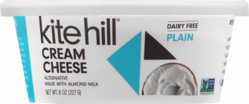 Kite Hill Dairy Free Plain Almond Milk Cream Cheese Style Spread Perspective: front