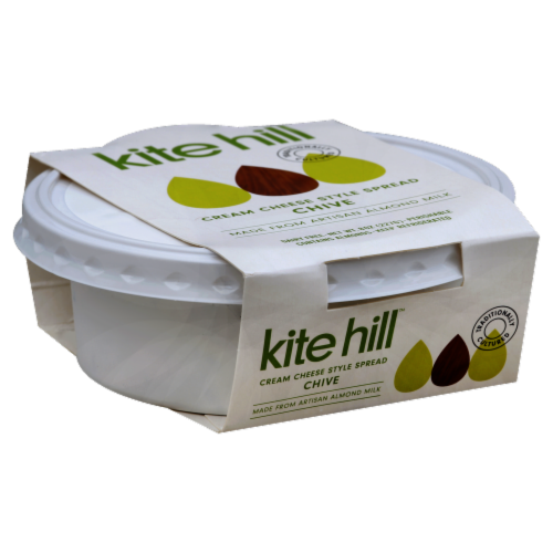 Kite Hill Almond Milk Chive Cream Cheese Style Spread Perspective: front