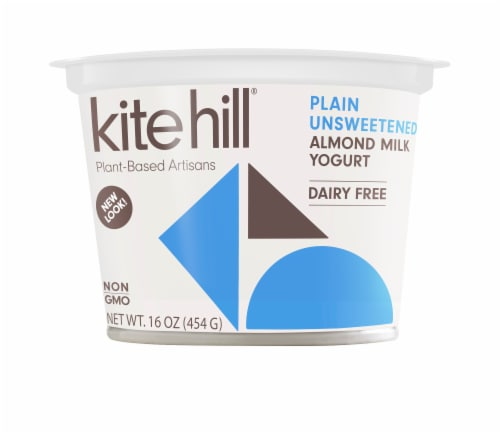 Kite Hill Plain Unsweetened Almond Milk Yogurt Perspective: front